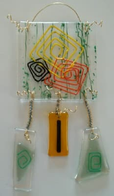 fused stained glass suncatcher