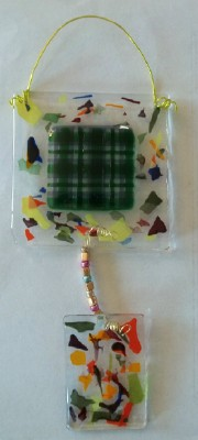 fused glass suncatcher  made in Nebraska USA